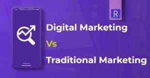 banner showing Digital Marketing vs Traditional Marketing