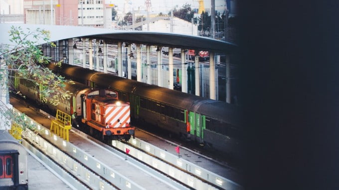 A Train Carrying Imported Products