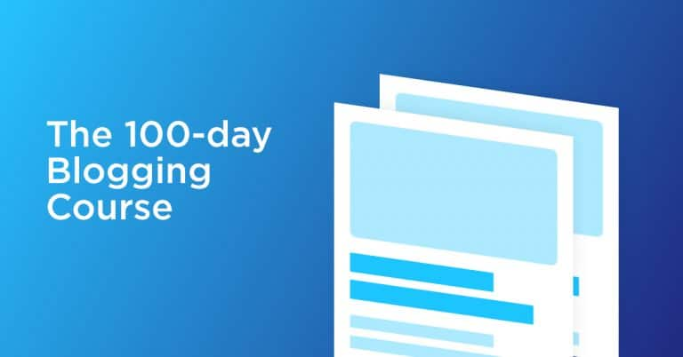100 Day Blogging Course