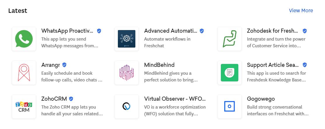 latest Integrations On Freshchat