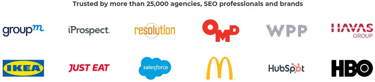 List Of Top Brands Using Accuranker