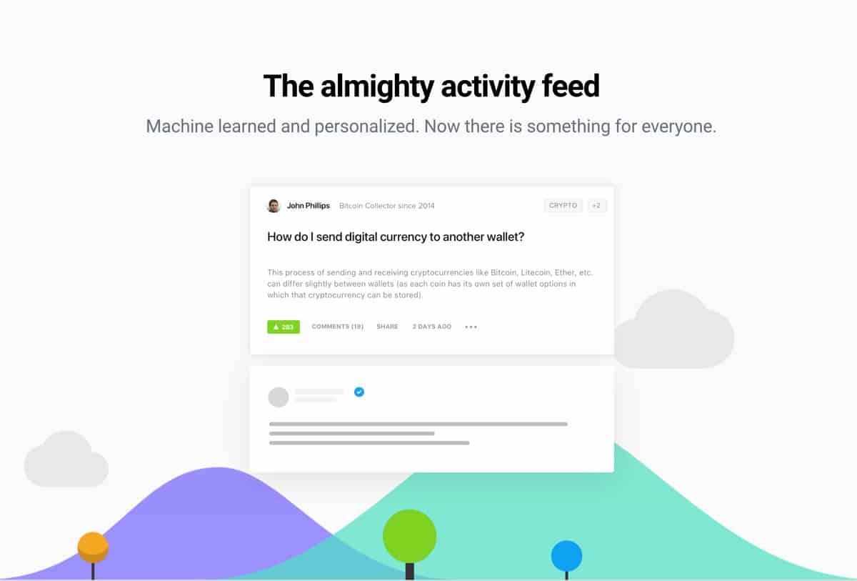 Tribe.so Community Activity Feed Screenshot