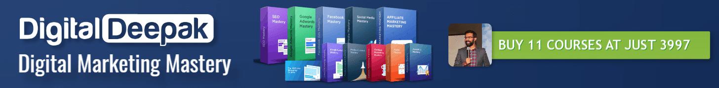 digital marketing mastery courses by digital deepak